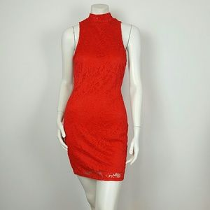 PRIVY Women's Red mini  dress